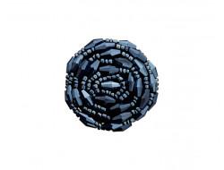 Bouton bijou - Fleur en perle 40 mm
