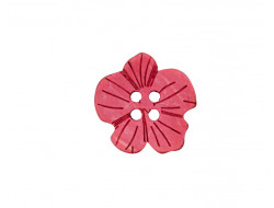 Bouton - Fleur rose en coco