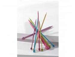 Aiguilles droites colorées plastique Bergère de France - 40 cm