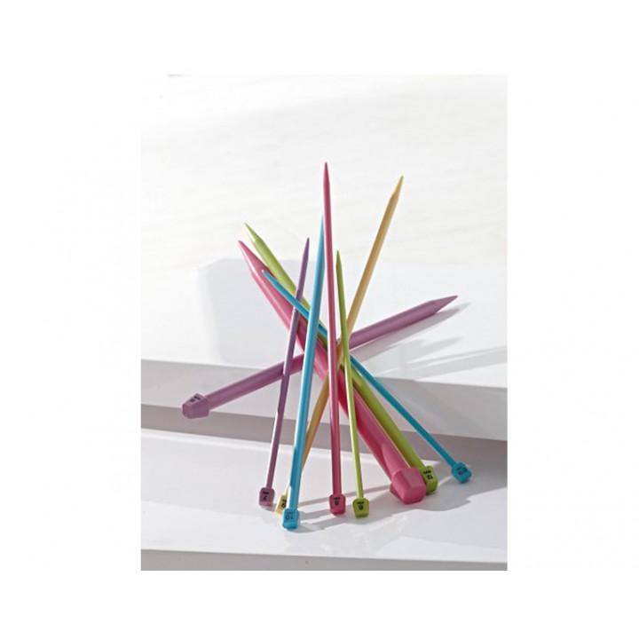Aiguilles à tricoter du 5.5 au 25 mm plastique 40 cm Bergère de France