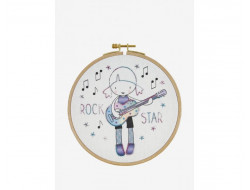 Kit broderie enfant - Rock Star