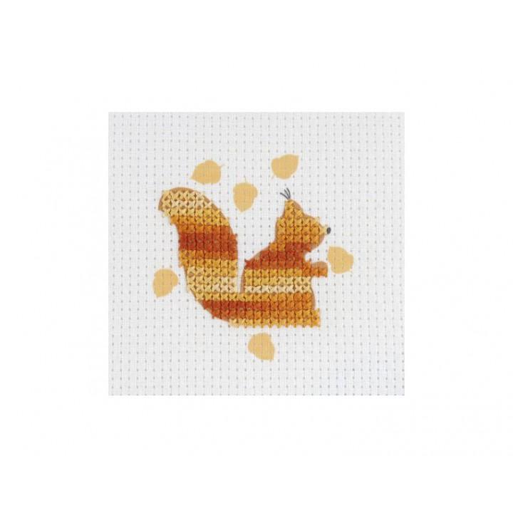 Kit point de croix enfant - L'écureuil orange