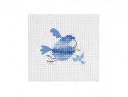 Kit point de croix enfant - Oiseau bleu