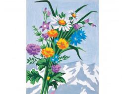 Kit canevas - Bouquet de fleurs sauvages