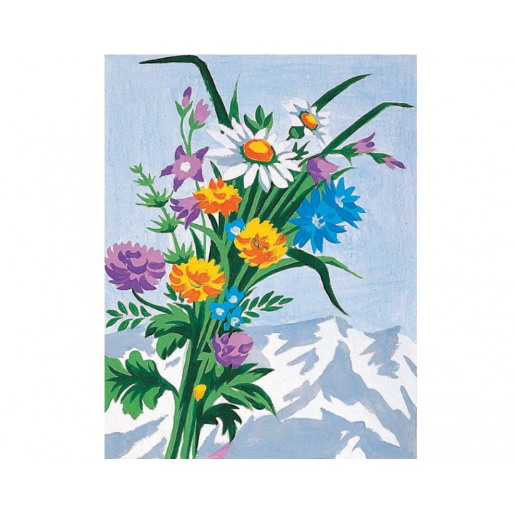 Kit canevas bouquet de fleurs sauvages mercerie floriane - Bouquet de fleurs sauvages ...