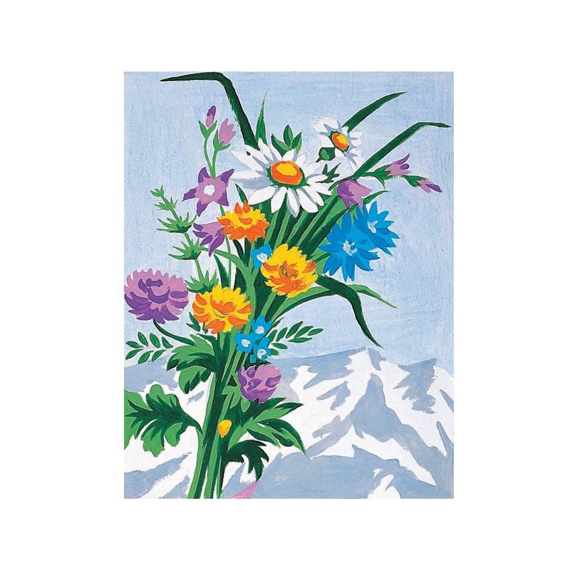 kit canevas bouquet de fleurs sauvages mercerie floriane. Black Bedroom Furniture Sets. Home Design Ideas