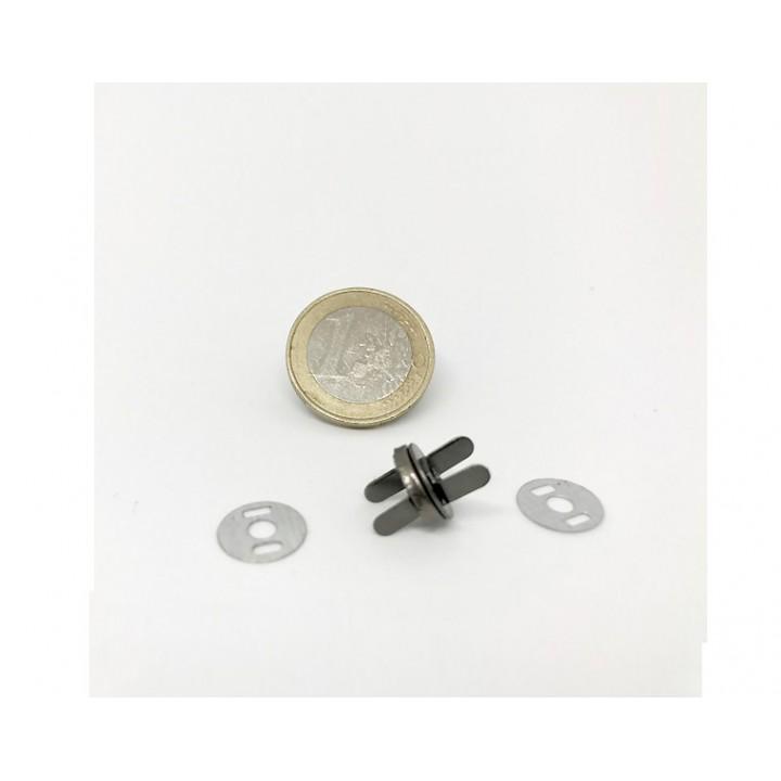 Aimant de sac, extra fin Acier 10 mm - Rond