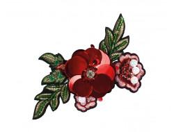 Écusson thermocollant Géant - Roses brodées