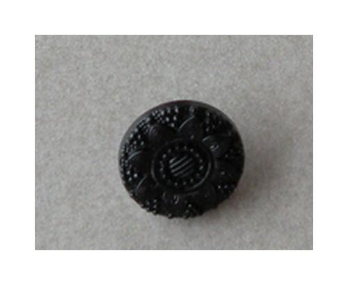 Bouton noir - 12 mm