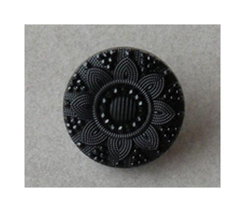 Bouton noir - 19 mm