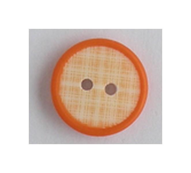 3B33907.12.17.Bouton vichy orange
