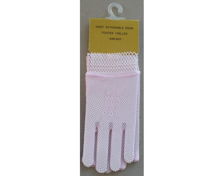gant rose enfant