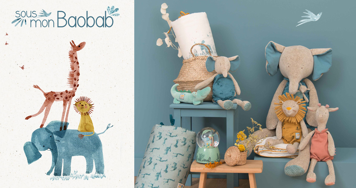 """Nouvelle collection """"Sous mon Baobab"""" Moulin Roty"""